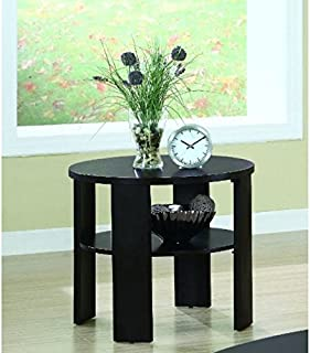 Monarch Specialties Contemporary Round End Table, Cherry
