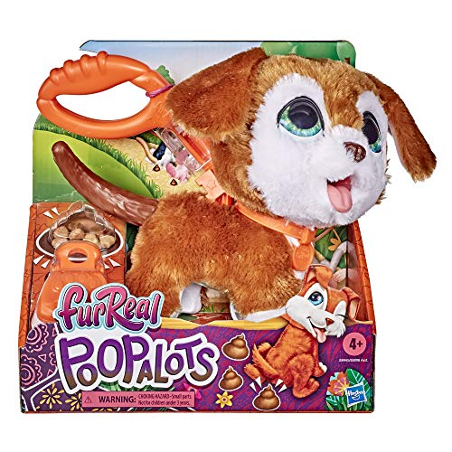 Hasbro E89455X3 FurReal Poopalots Große Racker interaktives Spielzeugtier, Verbindungssystem, ab 4 Jahren