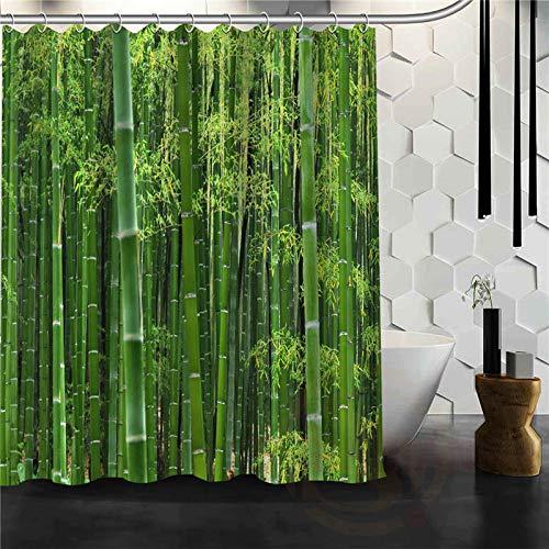 qhtqtt Duschvorhang Beauty Bamboo Bamboo Forest Badezimmer Polyester Wasserdicht 180X200Cm A