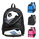 Boys Girls Soccer Bags Soccer Backpack Basketball vollyball Football Bag Backpack Kids Ages 6 Up with Ball Compartment All Sports Bag Gym