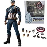 Modello di Statua Animeavengers 4 Endgame American Captain America Action Figure Modello da Collezione Toy Doll Regalo per Bambini 15Cm