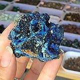 ABCBCA Natural Azurita Malaquita Mineral Prima Mineral de Piedras Preciosas Reiki Cristal Piedra Malaquita Haciendo Tinte Decoración Cristal (Size : 50 60g)