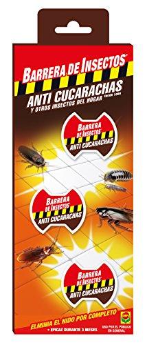 Compo Repelente Barrera de Insectos Cebo Anti, Control de cucarachas, Peces Plateados y cochinillas, 3 Unidades
