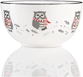 Martha Stewart Collection Pups & Plaids Owl Cereal Bowl