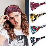 Sethexy Boho Sage Femmes Bandeaux dix Pack Fleur Bande de cheveux Mode Bandeau Extensible Coton Bandeau Bohême Athlétique Cheveux Accessoires pour filles