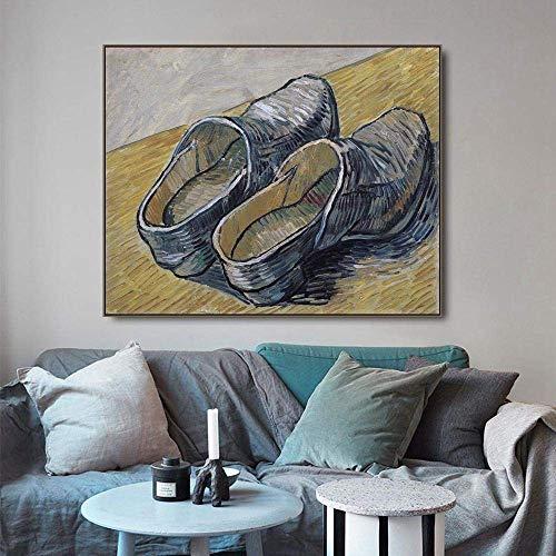 woyaofal Rompecabezas de Rompecabezas Un par de Zuecos de Cuero, 1000 Piezas de Arte de Van Gogh, Rompecabezas de Papel para Adultos, Regalo de Aprendizaje para Adolescentes, 38 * 26 cm