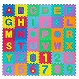 all Kids United Kinder Puzzlematte Kinderteppich Spiel-Teppich Spielmatte Eva Schaumstoff-Matte 86-TLG; 186x186cm