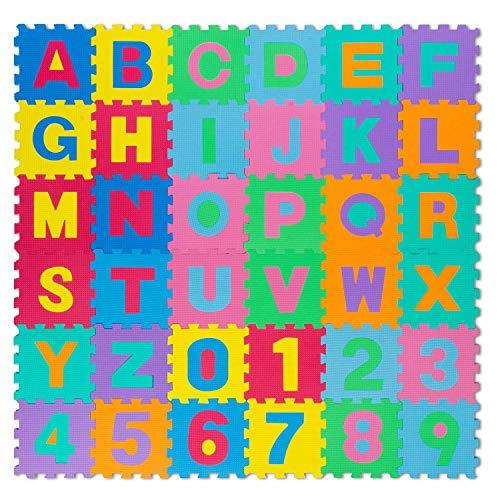 all Kids United® Kinder Puzzlematte Kinderteppich Spiel-Teppich Spielmatte Eva Schaumstoff-Matte 86-TLG; 186x186cm