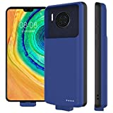 zukabmw Coque Batterie pour Huawei Mate 30, 7000mAh Étui de Charge de Batterie Rechargeable à Adsorption Magnétique Chargeur Externe Rechargeable Puissante Power Bank - Bleu foncé