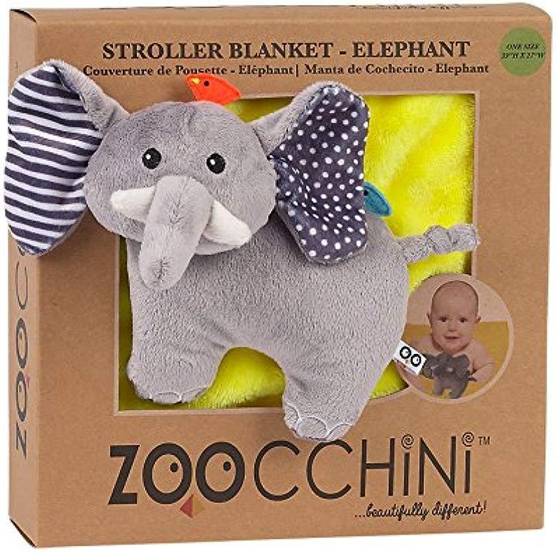 ZOOCCHINI Stroller Buddy Blanket Elephant Yellow