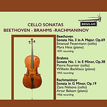 Cello Sonatas by Beethoven, Brahms and Rachmaninov