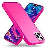 Kaliroo Neon Case compatibile con IPHONE 12 PRO MAX Custodia, Sottile Silicone Cover Colorato Protettiva Antiurto Bumper, Slim Skin Telefono Cellulare Protezione Resistente Guscio, Colore:Rosa Pink