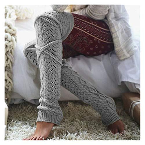 LCM 4 Estilo de Invierno sobre Calcetines de Rodilla Sexy cálida cálida Altas Medias de Calentador de Punto for Mujeres Bota Larga Muslo-Altas Leggings (Color : 2)