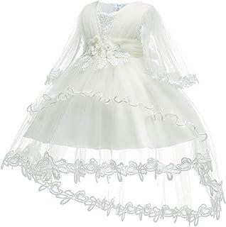 KINDOYO Baby Girls Dress - Baby Newborn Girls Christening Princess Wedding Lace Embroidery Flower Birthday Baptism Dresses