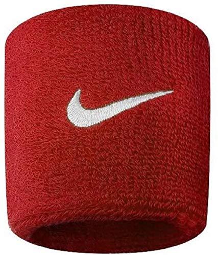 Nike Swoosh Wristbands Schweißband 2er Pack (one size, red/white)