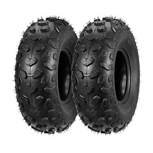 Set of 2 MaxAuto ATV Tires 19x7-8 19x7x8 19x7 8 ATV UTV Off-Road Tires All-Terrain Mini Bike Tires 4PR Tubeless Sport Tires
