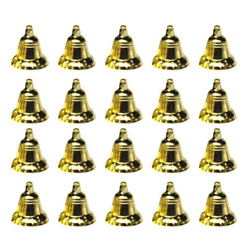 NUOBESTY 30 Stücke Mini Kleine Glöckchen Weihnachten Jingle Bells DIY Basteln Baumschmuck Christbaumschmuck Windspiel Glocken für Weihnachtsschmuck Weihnachtsdeko Anhänger