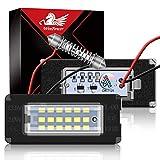 WinPower LED Éclairage plaque immatriculation auto ampoules super brillant CanBus Pas d'erreur 6000K xénon blanc froid 18 SMD Feux arrière pour Mini R55/R56/R57/R58/R59, 2 Pièces