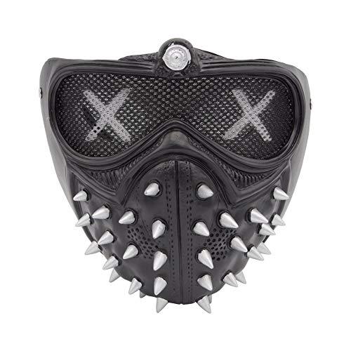 CNMF Niete Wrench Maske, Weste Cosplay Kostüm Herren (One Size, Schwarz Maske)