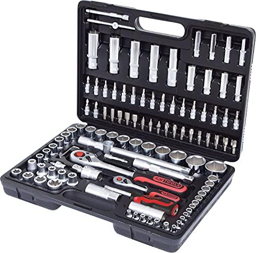 """KS Tools 911.0708 1/4"""" +1/2"""" Steckschlüssel-Satz, 108-tlg."""