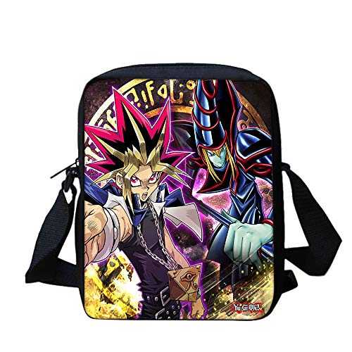 Yu-Gi-Oh Backpack Beautiful Small Over Shoulder Bags Fashion Canvas Satchel Crossbody Bag PU Leather Backpack Unisex (Color : A14, Size : 20 X 5 X 25cm)