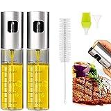 Eletorot Oil Sprayer Dispenser,Vinegar Sprayer,Dressing Spray with Brush Portable,Grilling Olive Oil Glass Bottle