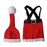FENICAL accesorios de fotografía de recién nacidos de navidad bebé foto crochet gorro de punto...