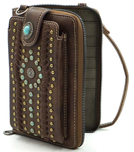 Montana West Crossbody Cell Phone Purse For Women Western Style Phone Bags Travel Size With Strap MWUSA-PHD-103CF-A