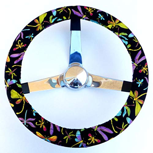 Mana Trading Steering Wheel Cover Colorful Dragonflies
