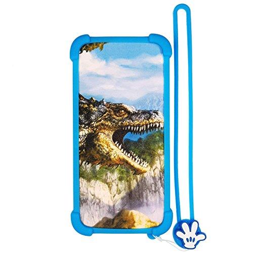 Lovewlb Hülle für Energy Sistem Energy Phone Pro Hd hülle Silikon Grenze + PC hart backplane Schutzhülle Case Cover Nacht-Leuchtende HT