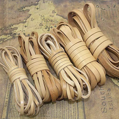 AOM 5Meters 2-20mm 2mm Dikke Echte Koe Lederen Koorden Vintage Weven Platte Touw DIY Maken Tassen Riem Sieraden Armband Ambachten 6X2mm