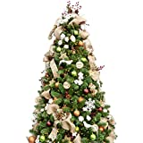 KI Store 7ft Artificial Christmas Tree with Ornaments and Lights Woodland Christmas Decorations Including 7 Feet Full Tree, 172pcs Ornaments, 2 pcs 59ft USB Mini LED String Lights