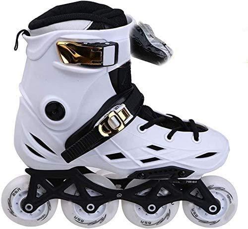 Patines en línea Patines en línea Botas de rodillos para adultos Fila única profesional Zapatos de patinaje de velocidad de la velocidad de la fibra de carbono Deportes para principiantes al aire libr