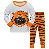 DAWILS Pijama para Niños Tigre Pijamas de Manga Larga para niños 6-7 años