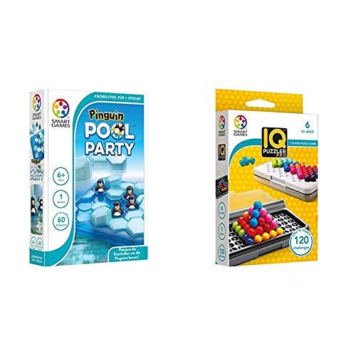 SMART Toys and Games GmbH SG431DE Pinguin Pool Party, bunt & SG455 IQ-Puzzler PRO, Geschicklichkeitsspiel, Reisespiel, Gehirntraining
