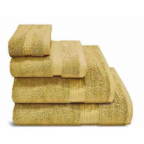 PimpamTex - Asciugamano Premium 700 Grammi da Bagno Extra Large 100% Cotone 100x150 cm - Colore (100x150 cm, Senape)
