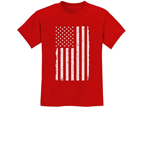 50e4ce895 TeeStars - Big White American Flag - 4th of July Gift U.S.A Youth Kids T-