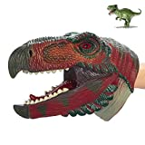 COGO MAN 2020 Newest Dinosaur Hand Puppet , Realistic Dinosaur Puppet Rubber | Dinosaur Head Puppet | Lifelike Hand Puppet Toys | Role Play Educational Learning Toys for Kids and Adults, Ornithomimus