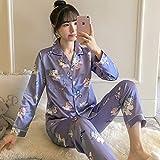 Nuevo Traje de Pijama de Mujer de Manga Corta de Dibujos Animados Lindo Pijama niñas Pijamas Regalos de Mujer 1 M