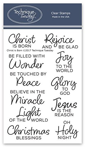 Christ is Born Clear Stamps - Religious Christmas Stamps | Stamps Christian | Photopolymer Stamps | Card Making Supplies