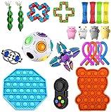 XRDSHY Set di Giocattoli Sensoriali Agitarsi, Set di Giocattoli Antistress,Fidget-Toys E Giochi per Le Dita per Adulti Bambini, Giocattoli Anti-ansia per Alleviare Lo Stress per Autismo ADHD