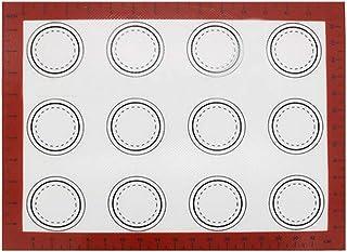 Hemoton Tapis de Cuisson en Silicone Macaron résistant à la Chaleur en Fibre de Verre pour Four ou Four