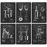 MONOKO® Küchen Bilder Patent Poster Wein - Wohnzimmer