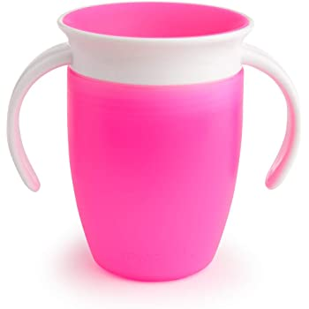 Munchkin Tasse d'apprentissage Miracle 360° - Rose - 207 ml
