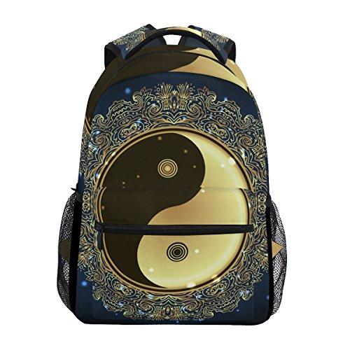 U LIFE Mochila escolar, bolsa casual para laptop para meninos e meninas, crianças, homens, mulheres, cultura chinesa, filosofia naturalistas
