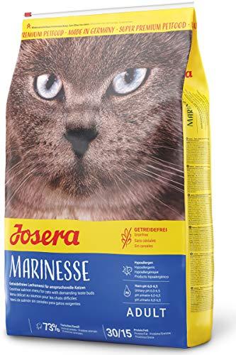 JOSERA Marinesse (1 x 10 kg) | getreidefreies Katzenfutter mit Lachs | hypoallergen | Super Premium Trockenfutter | 1er Pack