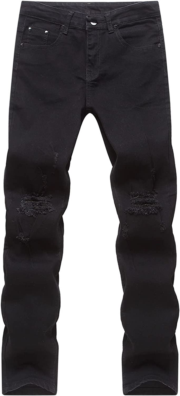 Mens Denim Sale item Distressed Slim Fit Straight Str Fashion Jeans Ripped store
