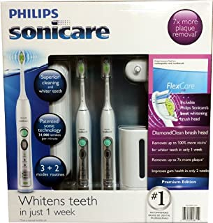 Philips Sonicare Flexcare Rechargeable Sonic Toothbrush Premium Edition 2 pac... (B00FZ2NGRC) | Amazon price tracker / tracking, Amazon price history charts, Amazon price watches, Amazon price drop alerts