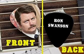 Set of 3 Parks and Recreation Rec Ron Swanson premium Promo Guitar Pick Pic