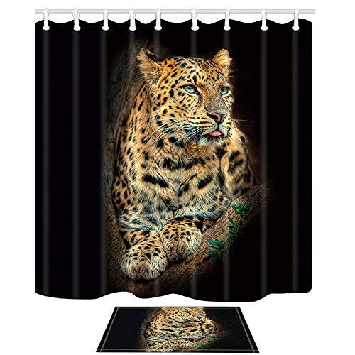 Kjhds Animaux Motif Rideau De Douche D/écoration Salle De Bains Haute Qualit/é Imperm/éable Polyester Rideaux-150X180 cm